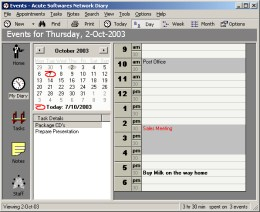 Acute Softwares Diary - Manages all your appointments, tasks and info